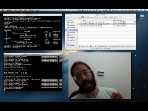 Installing Python and PyGreen on Arch Linux on Raspberry Pi Model B+