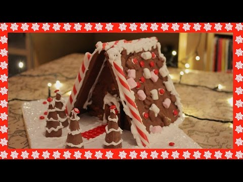 Festive Rocky Road Chocolate House with Timelapse