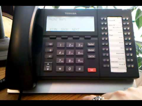 How to Change the Name on Toshiba Telephones ACC Telecom Video