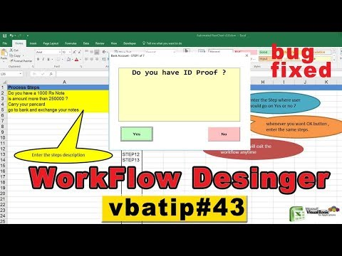 vba automated workflow chart | free flow chart - vbatip#43
