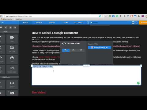 Embedding a Google Document in a Weebly Website