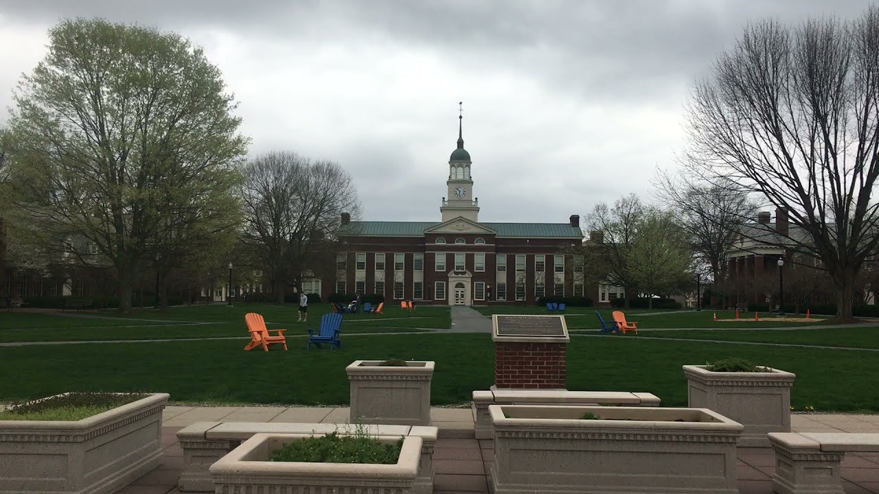 Bucknell University Campus Tour--360 degree view from Quad..visiting on a cloudy day w/ my 2025 son!
