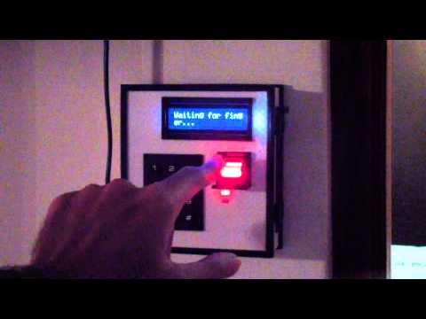 Project Jarvis Home Automation Demo   Fingerprint Scanner Version 2