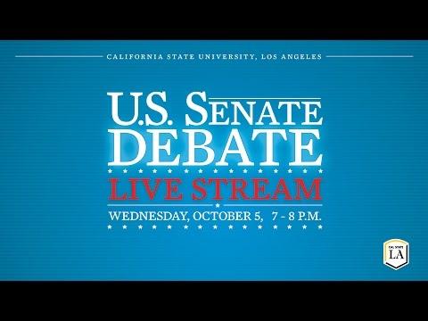 U.S. Senate Debate at Cal State LA