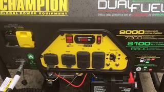 Firman H07552 Dual Fuel Generator First Start/Break In (Part