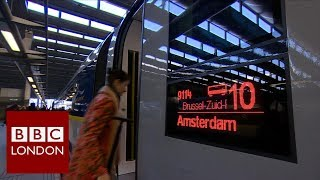 The first ever London to Amsterdam service leaves St Pancras – BBC London News