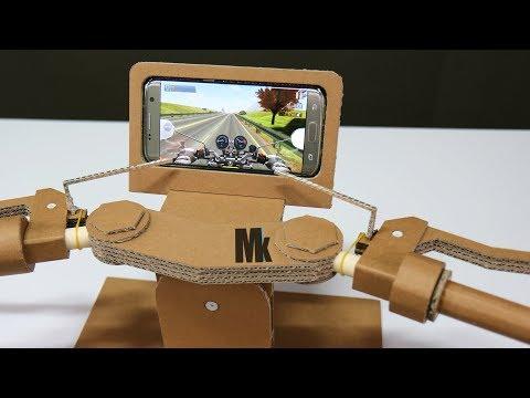 How To Make Gaming Steering(Motorcycle Joystick) Amazing Cardboard DIY