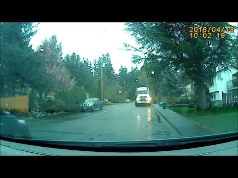 Garbage truck near hit in Comox, BC