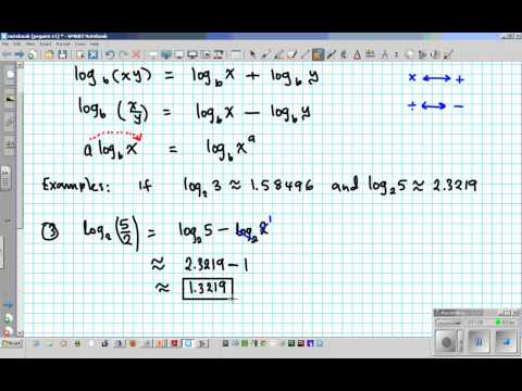 TU4L6 Using properties of logs for approximation and solving equations