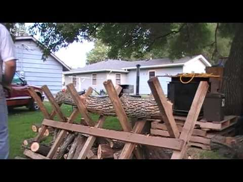 sawbuck, log cutting stand, 8' long
