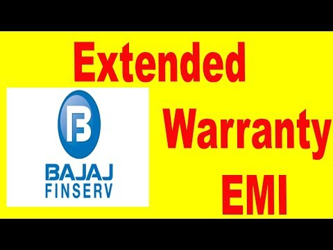 Extended Warranty EMI |  Finance extended warranty bajaj