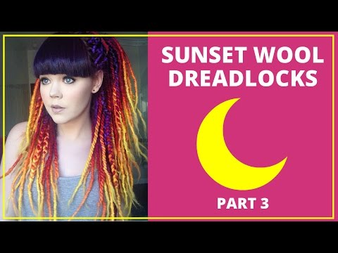 Sunset Wool Deadlock Tutorial: Part 3: Crochet & Wrap