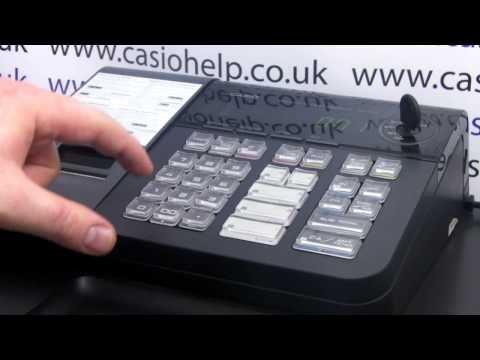 How To Program Tax On Casio SE-S10 PCR-T280 Cash Register How Set Tax 2 To 5% Add In