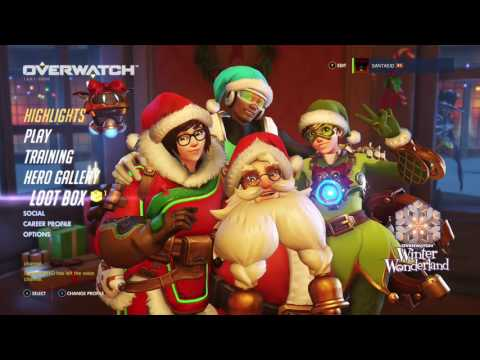 Opening Overwatch Winter Wonderland Loot Boxes: Hunt for Nutcracker and Rudolph Skins (No FaceCam)