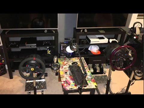 Gaming Room Tour ULTIMATE Dual Wheel Setup!