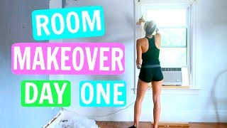 ROOM MAKEOVER DAY 1!