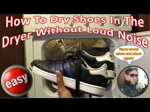 How To Dry Shoes In The Dryer Without Loud Noise