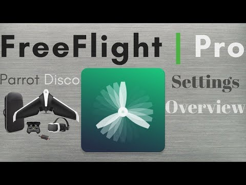 FreeFlight Pro -- Parrot Disco -- Settings Overview