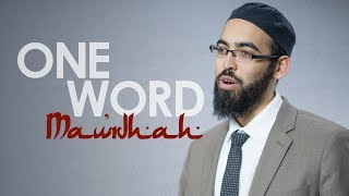 One Word with Adam Jamal - Maw