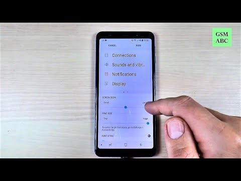 Samsung A7 & A9 (2018) - FONT SIZE (How to Change)