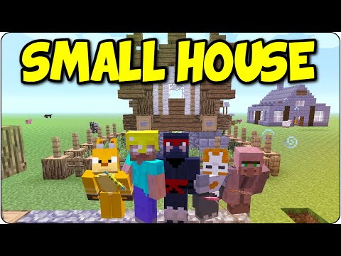 Minecraft PS3, PS4 Building Challenge - Small House Tutorial/ Showcase - Multiplayer Console Edition