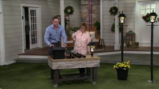 Gama Sonic 6.5' Solar Lamp Post with Planter & EZ Anchor on QVC