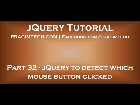 jQuery to detect which mouse button clicked