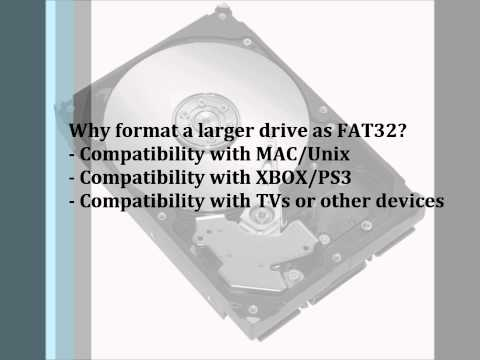 Format External Drive as FAT32 - (PS3 - XBOX - OSX - Win)
