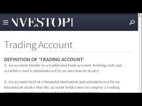 Definition Of A Margin Trading Account