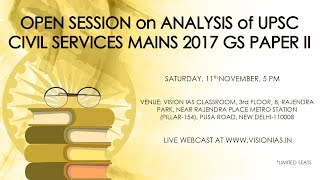 Analysis of UPSC Civil Services Mains 2017 GS Paper II