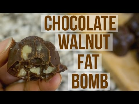 Chocolate Walnut Fat Bomb   Keto Low Carb Dessert Recipe