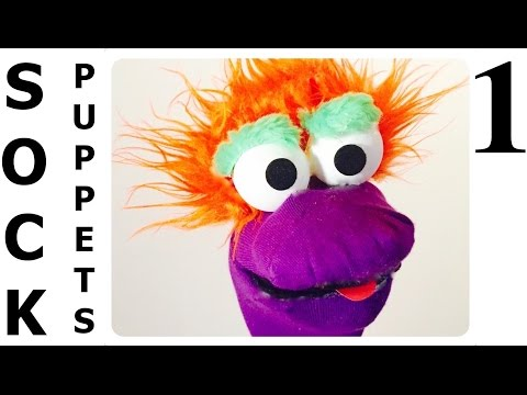 How to Make SOCK Puppets 1 - Style 1 - ( Easy & Simple ) Çorap Kukla Yapımı ( Kolay & Basit )