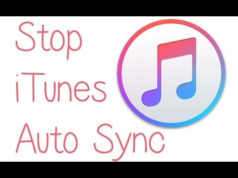 iTunes, Stop Auto Sync