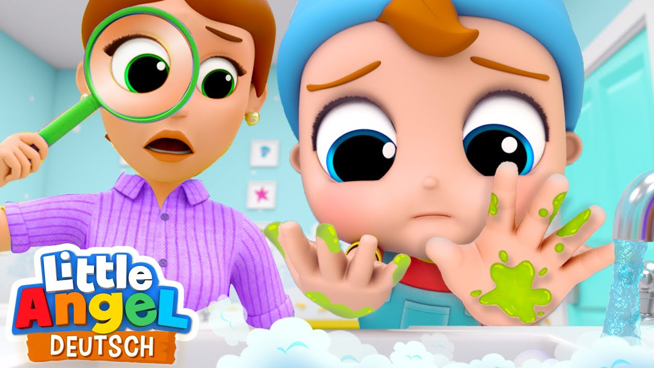 Wasch die Händchen | Händewaschen nicht vergessen! | Little Angel Deutsch - Kinderlieder