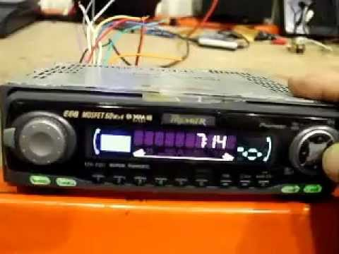 How to- Set a pioneer car stereo clock time