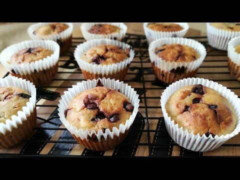 Banana & Chocolate Chip Muffins Recipe