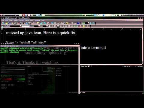 Ugly Ipblock Java Icon Work Around Ubuntu 10.04