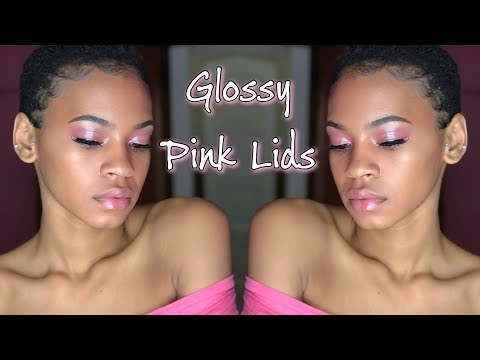 PINK GLOSSY LIDS | ft. Fenty Beauty Gloss Bomb & Glossier Cloud Paint