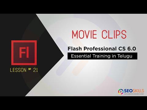How to Use Movie clips in Adobe Flash CS6 - Telugu Tutorials
