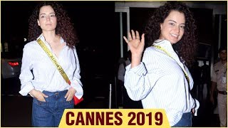 Cannes 2019 | Kangana Ranaut @ Airport, Leaves For Cannes Film Festival 2019