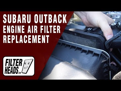 How to Replace Engine Air Filter 2014 Subaru Outback H4 2.5L