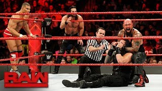 Roman Reigns, Seth Rollins & Jason Jordan vs. The Bálor Club: Raw, Jan. 8, 2018