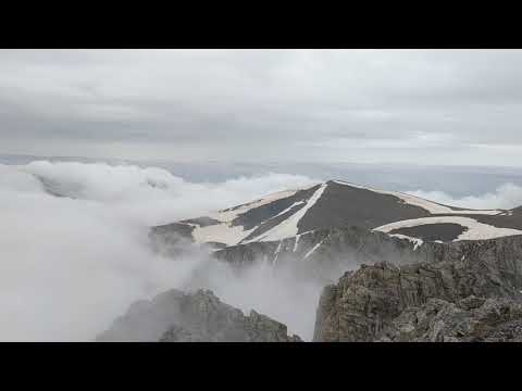 panorama from the summit of Mytikas on Mount Olympus, Greece