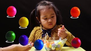 Learn Colors and Count Numbers 1 to 10 With Gumballs for Children