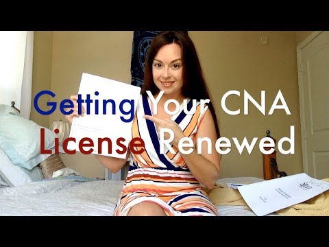 How to Get Your CNA License Renewed