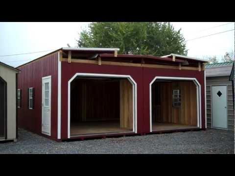 2 Story 2 Car Modular Garage