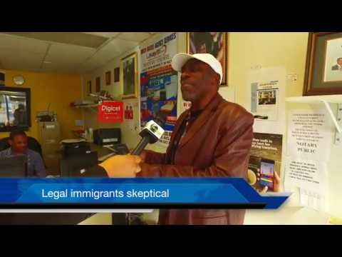 Haitian American Immigrant walks around with US passport in case of ICE police Immigration raid