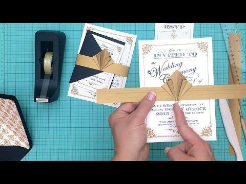 DIY ArtDeco Wedding Invitation