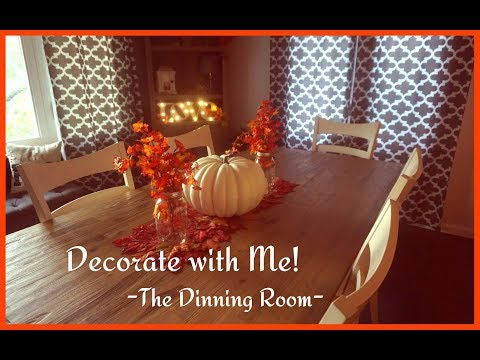 Speed Clean & Decorate with Me: The Dinning Room   Fall Autumn 2017