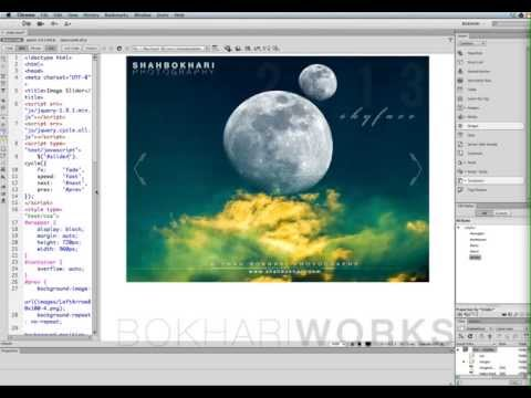 How to create a beautiful image slider in Dreamweaver CS6 from scratch. 2nd version